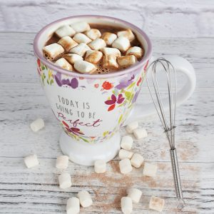 Chocolate mug with marshmallows gift set