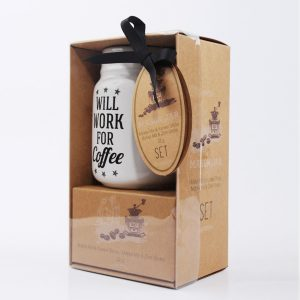 Mason jar with coffee mix gift set